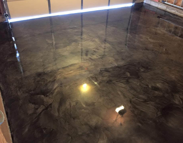 Epoxy garage floor Leesburg
