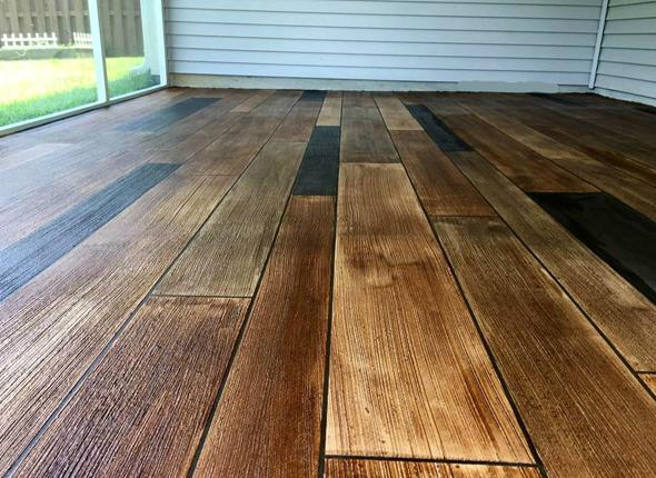 Wood Stamped Concrete Floors
